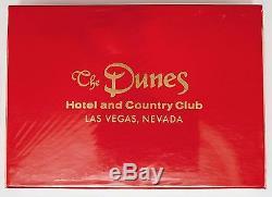 Ensemble De Double Pont The Dunes Hotel Des Années 1970, Très Rare, Cartes À Jouer / Plaque De Rue Pour Hôtel