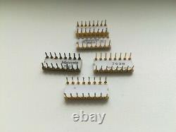 Ensemble De Processeurs Vintage Intel C4004 Très Rare, C4001, C4002-1, C4002-2, C4003, Gold