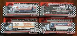 Ensemble Très Rare De Première Édition 1989 Matchbox Cy104 Convoi Nascar Trucks Nouveau Coffret