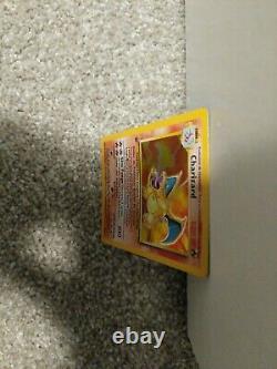 Espagnol Pokemon Base Set Charizard 1ère Édition Holo Belle Très Rare Carte
