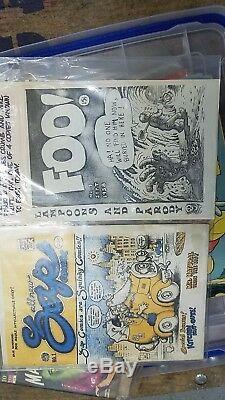 Foo! Zap 1er Imprimer! Set Lot R Crumb Comix Très Rare Collection 1er Ed Edition Vf +
