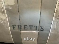 Frette Southampton 4 Pc Queen Sheet Set Satiné Gris Moyen Très Rare 1 100 $