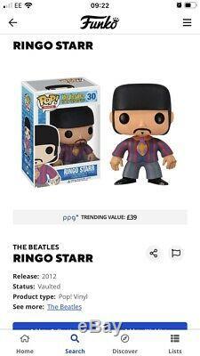 Funko Pop The Beatles Set Of 4 Très Rare Voutée Plus De £ 600 Le Ppg