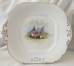 Grimwades Beatrix Potter Très Rare Adulte À Thé Plat À Gâteau Compris