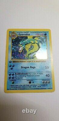 Gyrados Pokemon Card Shadowless 1ère Édition Base Set Holo 6/102 Très Rare