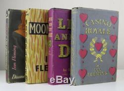 Ian Fleming Ensemble Complet De Première Édition James Bond Books 1st Very Rare