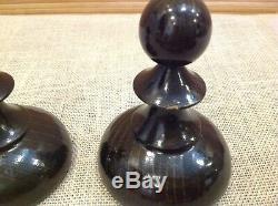 Jeu D'échecs Big Géant En Bois Vintage Soviétique Russe 50-60 Made In Urss Très Rare
