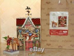 Jim Shore Très Rare Noël Santa Livery Atelier Cerf Elf Set 2 4013888 Mib