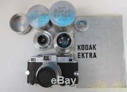 Kodak Ektra Télémètre Caméra Withlens Set 2500 Limitée Très Rare