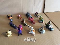 Konami Et Bandai Wacky Races Figure Set Très Rare