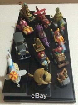 Konami Wacky Races Figure Ensemble Complet Avec Étui En Plastique! Très Rare