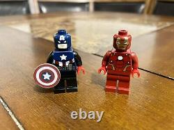 Lego 2012 Toy Fair Captain America & Iron Man Minifigures Sdcc Très Rare
