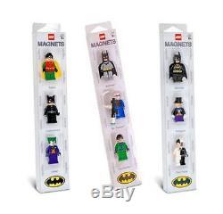 Lego Batman Magnet Sets (x3) 9 Batman Mini Figure Aimants Tres Rare