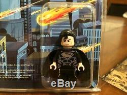 Lego DC Black Suit Super Man Mini Figure 2013 Sdcc San Diego Comic Con Très Rare