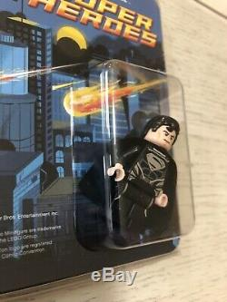 Lego DC Costume Noir Superman Mini Figure 2013 Sdcc Très Rare