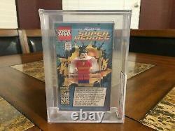 Lego DC Shazam Mini Figurine 2012 Sdcc San Diego Comic Con Afa 9.25 Très Rare