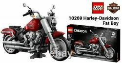 Lego Harley Davidson (fat Boy) # 10269 (sealed) (très Rare) Édition Créateur Nouveau