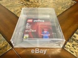 Lego Ps4 Spider Man Mini Figure 2019 Sdcc San Diego Comic Con Afa 9,25 Très Rare