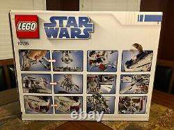 Lego Star Wars 10195 Republic Drop Ship At-ot Walker Bonus Figs Très Rare