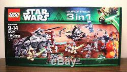 Lego Star Wars 3 66473 Jeux En 1 75019 75016 75015 Mib Scellé Très Rare Bundle