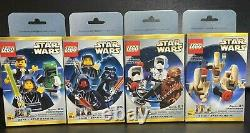 Lego Star Wars Limited Edition Minifigs 3340 3341 3342 3343 2000 Très Rares Ensembles