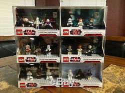 Lego Star Wars Sdcc Afficher Collection Ensemble Complet De 6 Afa Très Rares Cas