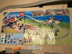 Lego Très Rare Vintage 6399 Aéroport Legoland Navette Monorail Train Complet