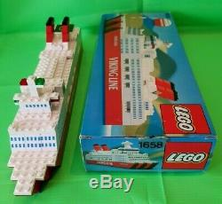 Lego Viking Ligne Saga Ferry Très Rare Promotionnel Boxed Set # 1658 Complet 1982