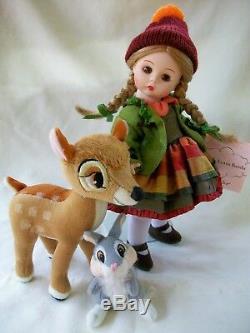 Madame Alexander Wendy Loves Bambi 8 Walt Disney Poupée Set Doll Mib Très Rare
