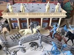 Marx Bataille Du Bleu & Gray Play Set No. 4658 99,9% Très Bon Dans Box Rare