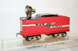 Mintish Very Rare Modern Marx Limited Marlines Special Red Work Train Set