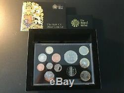 Monnaie Royale 2009 Au Royaume-uni 12 Preuve Ensemble De Pièces Y Compris De Très Rare Kew Gardens 50p Coa