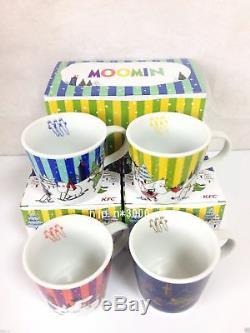 Moomin Tasse De Thé Coupe Limited Edition Vendu À Seulement Kfc Japon Ensemble De 4 Tres Rare