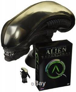 Nouveau Alien Quadrilogy 25e Anniversaire Head Figure DVD Set Du Japon Très Rare