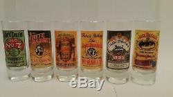 Objets De Collection Très Rares Ensemble De 6 Verre Shot Jack Daniels Tennessee Whiskey Vieux # 7