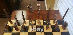 Paul Wunderlich Les Minotaures Jeu D'échecs Très Rare Signé / Numéroté Avec Conseil