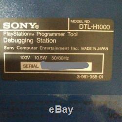 Playstation Station Déboguage Couleur Bleu Avec Accessoires CD-ROM Très Rare