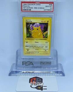 Pokemon Pikachu Red Cheeks 1999 1ère Édition Psa 10 (très Rare) Ensemble De Base