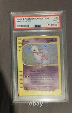 Pokemon Psa 9 Mint Mew Expedition Set 19/165 Holo Très Rare