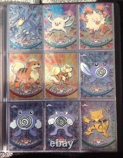 Pokemon Topps Série 1 Chrome Set Toutes Les Cartes 1 À 78 Dans Dossier Très Rare All Nm