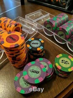 Puces Chapeau Haut Paulson Et De Poker De Canne. Ensemble Classique Très Rare. Bonne Condition