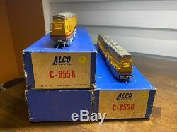Rare Set Alco D-107 / D-105 Ho Cuivre C-855 A & B Trains Diesel