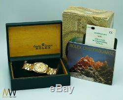 Rolex Day-date Quarz Pyramide En Or 18 Carats Ensemble Complet Lc100 Très Rare Ref. 19028