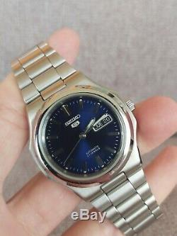 Seiko 5 Ref. Cadran Snkk45 Bleu, Nautilus, Set Très Rare, Sull