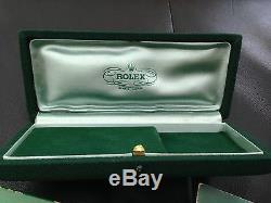 Set De Tres Rare Blank Rolex Service Livret & Coffin Boîtes 1950 3525 4768 6062