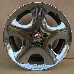 Set Très Rare De 4 Bmw Antera 123 19 Chrome Jantes Pas De Centre Caps Set Of 4