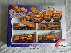 Siku 6316 Ensemble De Camions De Construction, Très Rare, Vers 1990/91, Boîte Vgc