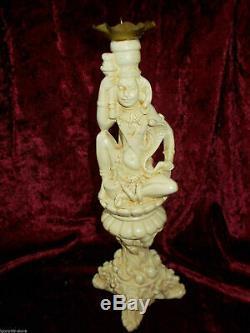 Statuette Figurine Candlestic Vintage Set Très Rare. Céramique 1970