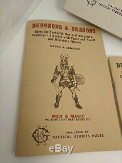 The Original Tsr Et Dragons Blanc Dungeons Coffret (très Rare Et Exc +!)