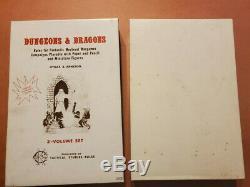The Original Tsr Et Dragons Blanc Dungeons Coffret (très Rare Et Vg +!) 6 P